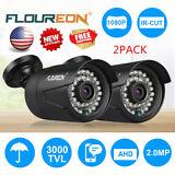 2PCS 1080P 2.0MP 3000TVL NTSC Outdoor CCTV DVR Home Security Camera Night Vision