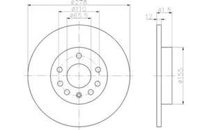 TEXTAR-Juego-de-2-discos-freno-Trasero-278mm-MERCEDES-BENZ-CLASE-E-OPEL-92118503
