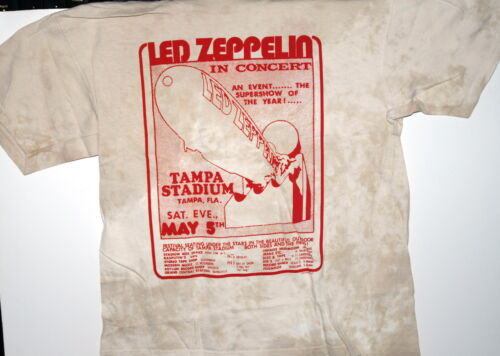 """LED ZEPPELIN /""""IN CONCERT/"""" TAMPA FL VINTAGE STYLE T-SHIRT NEW PAIGE PLANT"""