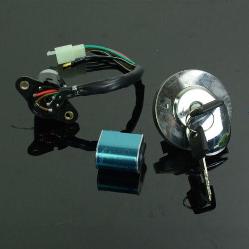 Ignition Switch Gas Cap Steering Lock Keys Set For Honda CMX250 Rebel 250 CA250