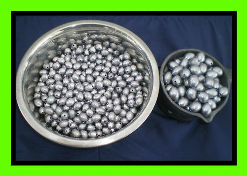 30 EGG SINKERS 1//2 OZ PLUS 25 #7 SWIVELS GOOD QUALITY MADE FROM DO-IT MOLD