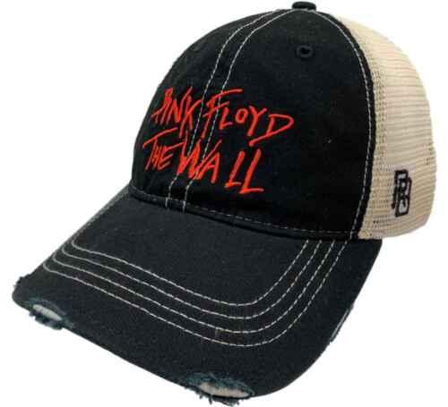 "Pink Floyd Retro Brand /""The Wall/"" Vintage Distressed Mesh Snapback Hat Cap"