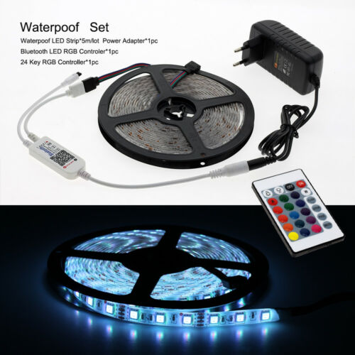 Power supply led set 24key Bluetooth Controller 12V LED Strip 5050 5m 60LED//m