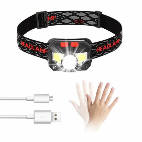 COB LED Scheinwerfer Stirnlampe Taschenlampe Kopflamp Arbeitslicht Outdoor USB