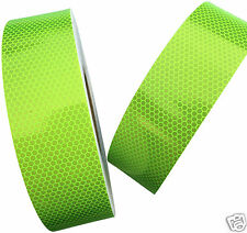 Hi Viz Fluorescent Grade Lime Reflective Tape 50mm X 1m High Intensity