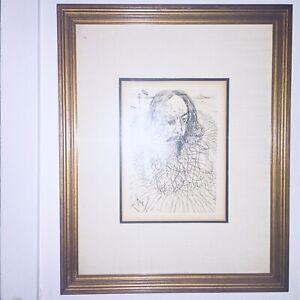Salvador-Dali-Original-Signed-Etching-Cervantes-Collectors-Guild-Certificate-COA