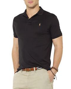 95c2ef5c59a34 Polo Ralph Lauren Men s Pima Soft Touch Polo Shirt - Black - Size ...