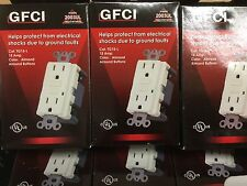 GFI GFCI OUTLET 15 AMP 120 VOLT LIGHT   ALMOND ONLY  6 PACK