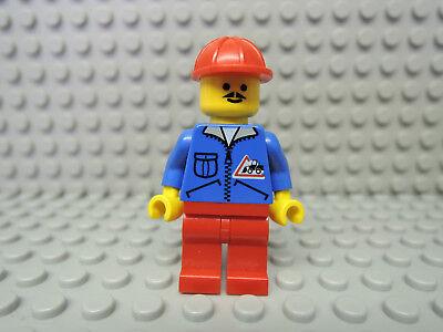 Lego Figur Town Mann blaue Jacke Bulldozer Logo jbl002  6565 6581 6535