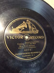 1904-Victor-Record-10-034-Coming-Thro-The-Rye-4273-78rpm-FREE-SHIPPING-B50S10