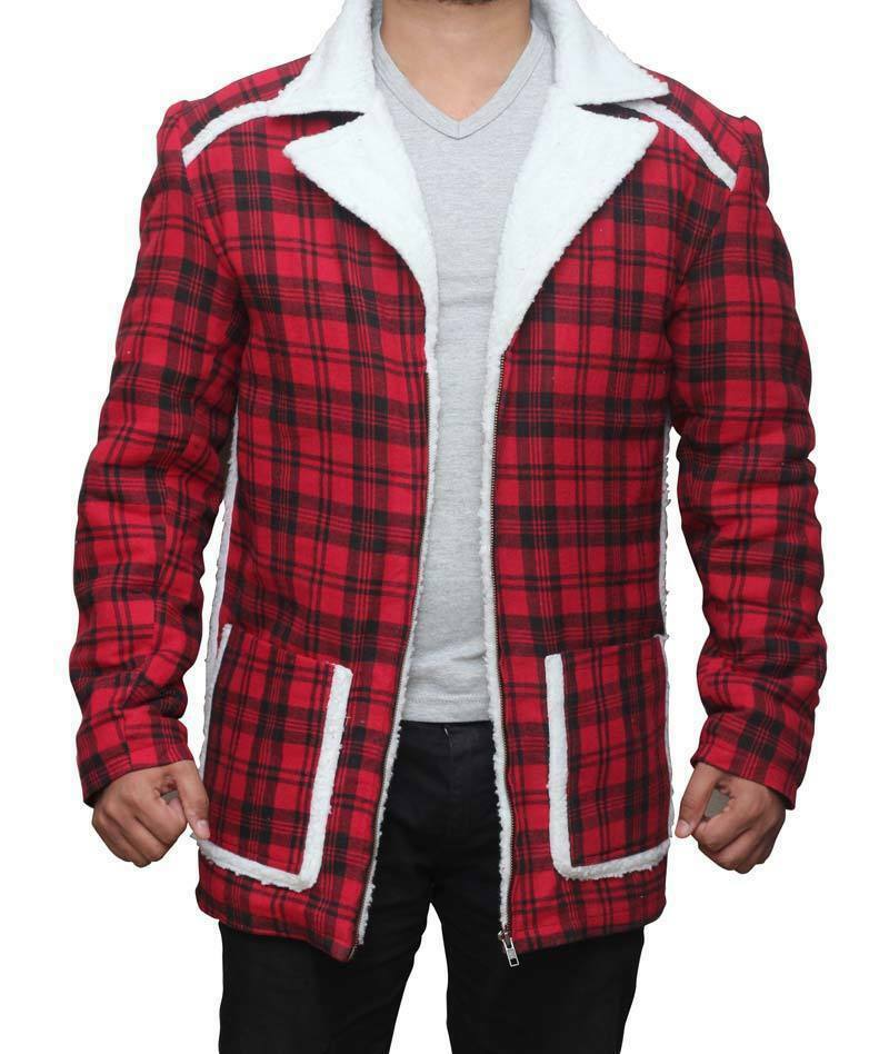 DEADPOOL Ryan per Reynolds Rosso Shearling Fur Giacca/cappotto per Ryan uomo e donna e441c3