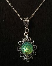 Mermaid Necklace Dragon Egg Pendant Game Of Thrones Little Ariel Scale Charm *UK