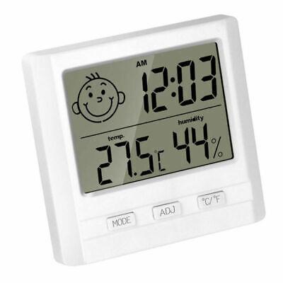 Digital Uhr mit Thermometer Hygrometer Luftfeuchtigkeit Messgerät Weckfunktion