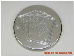 Zuendungsdeckel-Harley-Davidson-Timer-Cover-Shovelhead-Evo-Dyna-Poker-Royal-Flush