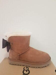 46dfa371b95 Details about Ugg Australia Women's Mini Bailey Bow II Glam Boots Size 7 NIB