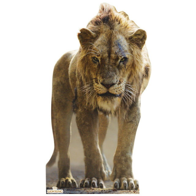 Scar The Lion King 2019 Lifesize Cardboard Cutout Standup Standee Poster Ejiofor