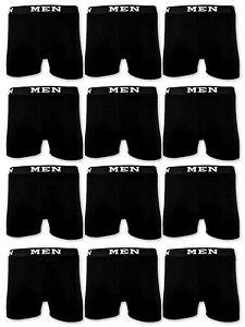 4-10-20-Boxershorts-Cotone-Uomo-Retro-Pantaloncini-Nero-Mutande-men