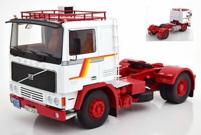 2019 Moda Volvo F1220 White / Red Camion Truck 1:18 Model Kk Scale Abbiamo Vinto L'Elogio Dai Clienti