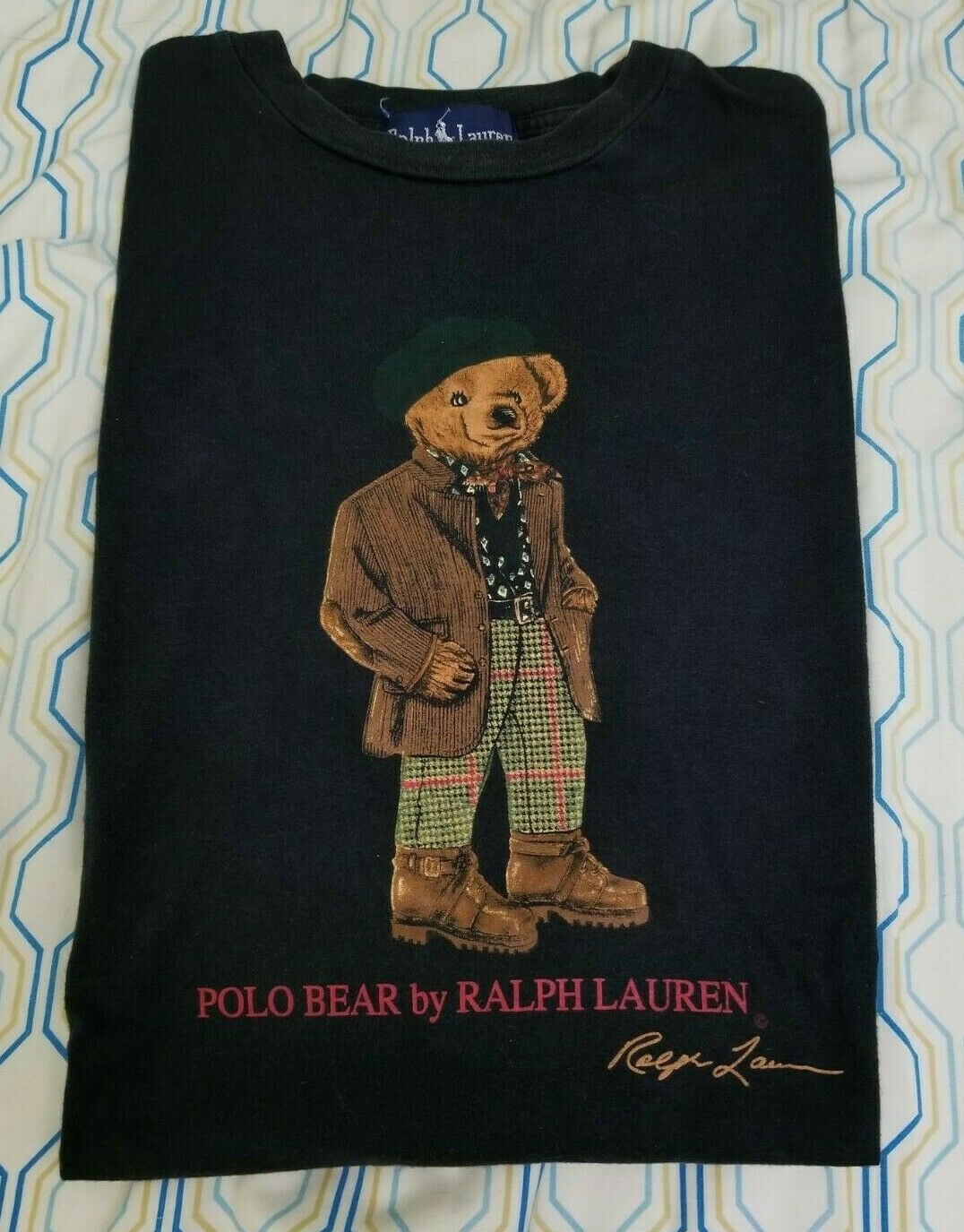 VTG 80s 90s Polo Ralph Lauren Polo Bear T Shirt B… - image 1