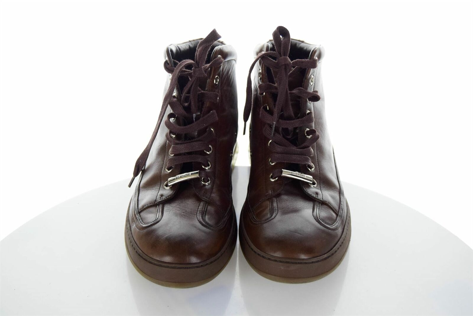 DIOR HOMME A W 2013 Brown Leather High-Top Trainers, UK 9.5 US 10 EU 44