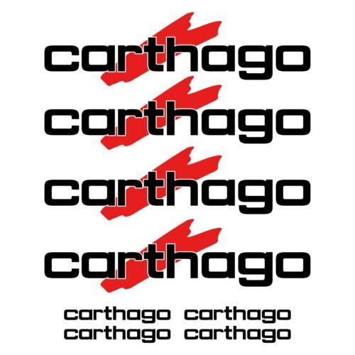carthago autocollant sticker camping car caravane caravan 8 Pièces