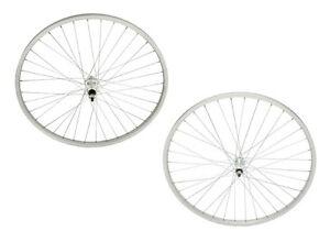 """26/"""" x 1 3//8/"""" Alloy Bike Wheel 36 Spoke 14g UCP 3//8 Axle Silver Bicycle Wheel"""