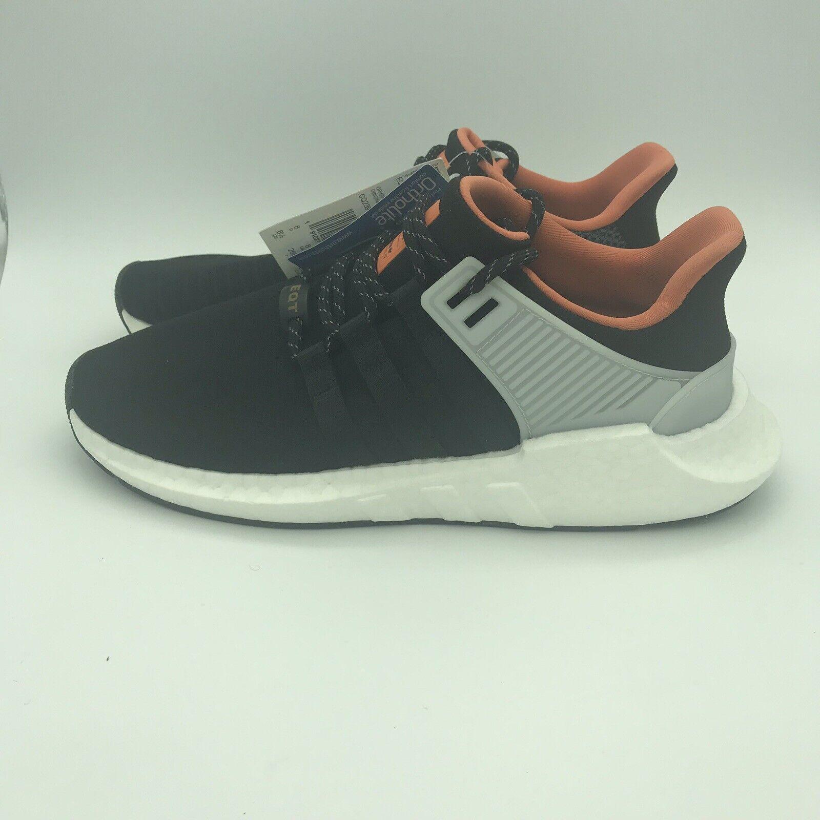 Adidas EQT Support 93 17 Men's 8.5 Boost Primeknit CQ2396 Welding Black orange