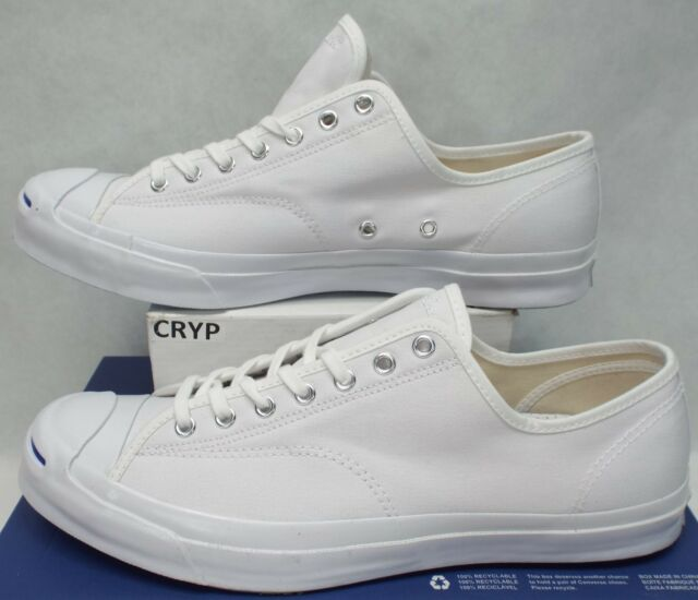18b8e5eac724 New Mens 11 Converse Jack Purcell JP Signature OX White Canvas  90 147564C