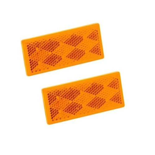 ***FREE SHIPPING*** Amber Set of 2 Class A Reflex Reflector for RV Camper