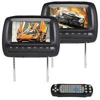 On Sale Beige 2x Universal 9car Headrest Monitor Lens Dvd Mp4 Player Sd Usb