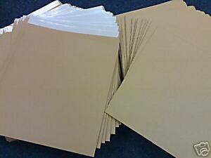 """100 12"""" BROWN RECORD MAILERS & 100 STIFFENERS & FREE 24h DEL"""