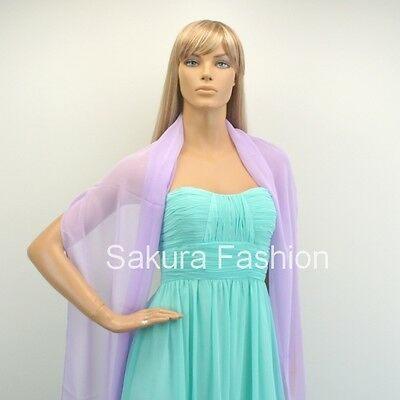New Chiffon Shawl Scarf Wrap Stole for Formal Bridesmaids Evening Prom Dress