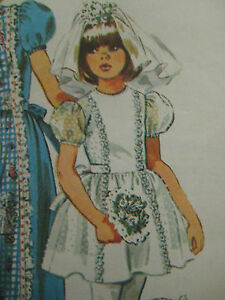 Vintage 70 S Simplicity 6242 First Communion Dress Sewing