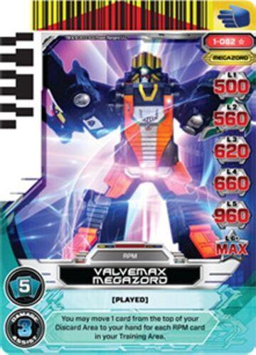 POWER RANGERS CARD RISE OF HEROES ValveMax Megazord 082