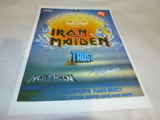 IRON MAIDEN - TRUST - ANTHRAX - Publicité de magazine / Advert MONSTERS OF ROCK