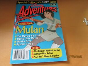 "Disney Adventures V8#9 7'98 Magazine for Kids 100TH ISSUE Mulan book 5x7 1/2"""