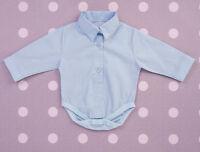 Baby Boy Checkered Formal Smart Shirt Bodysuit Vest Body 0 3 6 9 12 18M