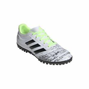 Adidas-Football-Copa-20-4-TF-Chaussures-de-foot-Homme-Blanc-Noir-Vert