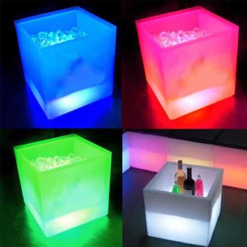 LED EiswürfelbehälterSektkühlerFlaschenkühlerEisboxChampagnerkühler