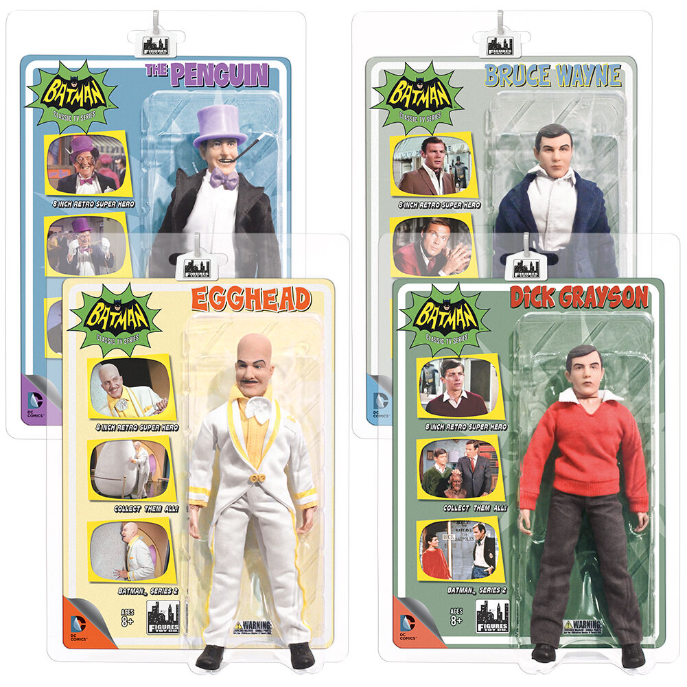 Batman 66 Classic TV Show Mego Style 8 Inch Figures Series 2: Set of all 4