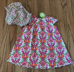 bdfc5bc6b Vera Bradley Lillie Bell Baby Girls Summer Outfit Dress Bloomers 9 ...