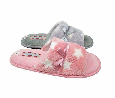 Womens Open Toe Mule Slippers Girls