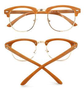Womens-Mens-Vintage-Classic-Horned-Rim-Glasses-Frame-Eyeglasses-Clear-Lenses