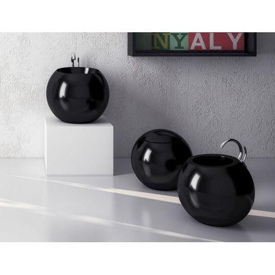Lavandino Lavabo da Appoggio Design moderno Sfera in ceramica blanc o nera 56cm
