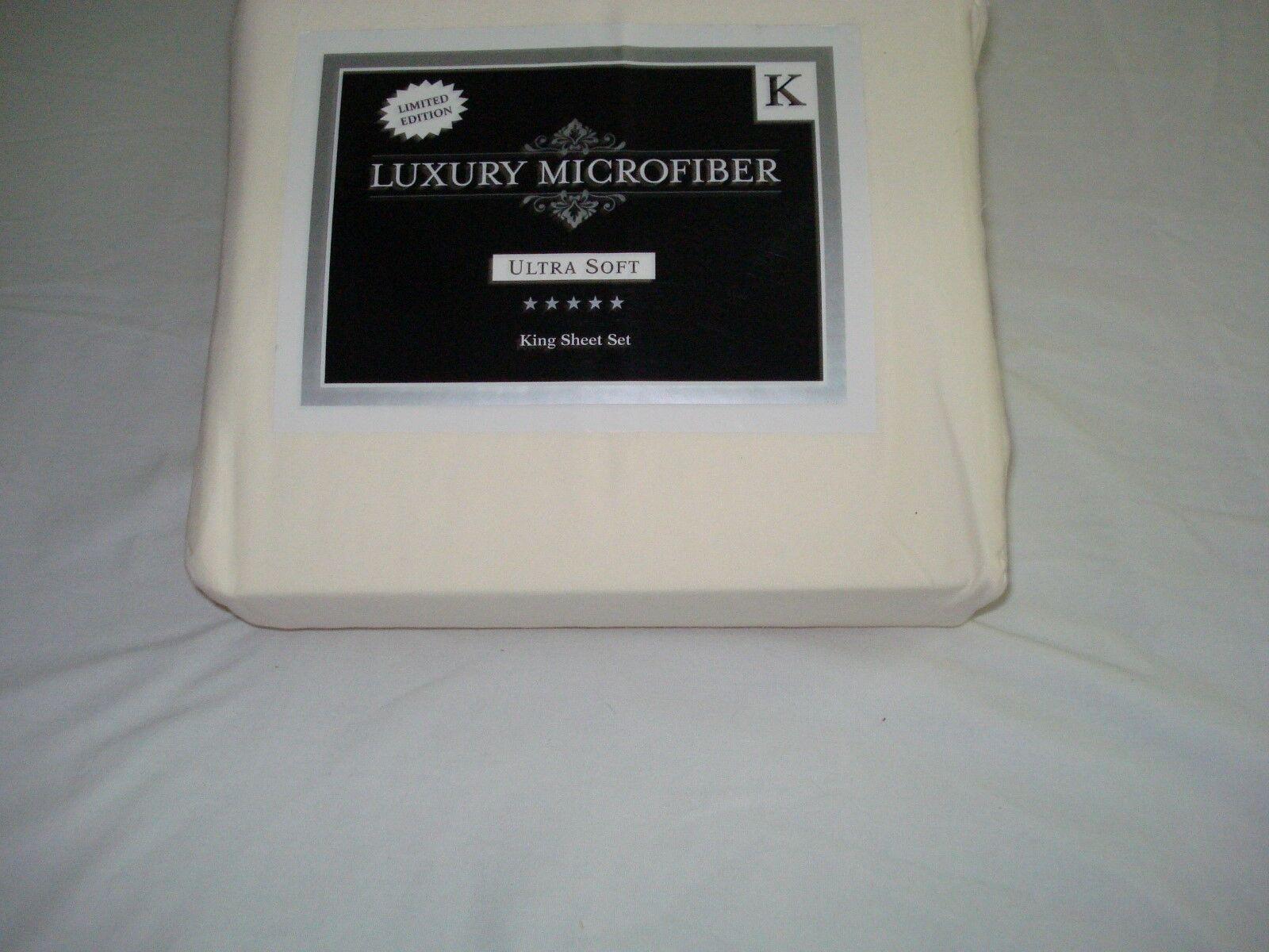 New Limited Edition King Sheets set wrinkle resistant Cre'me Mist color