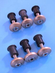 DUCATI-888-FAIRING-CUP-WASHERS-RUBBER-NUTS-BOTS-ZINC-GOLD-6MM-DIA-20MM-LONG