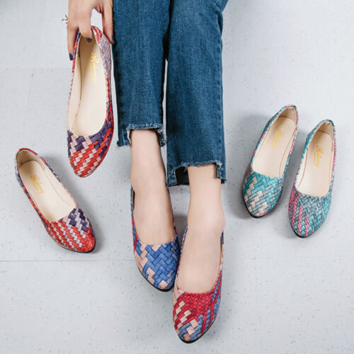 Fashion Women Girl Lady Mixed Colors Casual Female Pretty Pointed Toe Flat Shoes