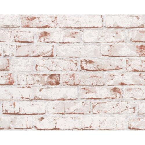 NEW AS CREATION PAINTED BRICK WALL STONE FAUX EFFECT EMBOSSED MURAL WALLPAPER