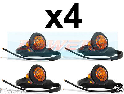 10 x 12V//24V RED SMALL ROUND LED BUTTON REAR MARKER LAMPS//LIGHTS UNIVERSAL TRUCK