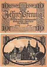 Germany / Poland 10 Pfennig 1920 Notgeld Sommerfeld UNC Uncirculated Banknote